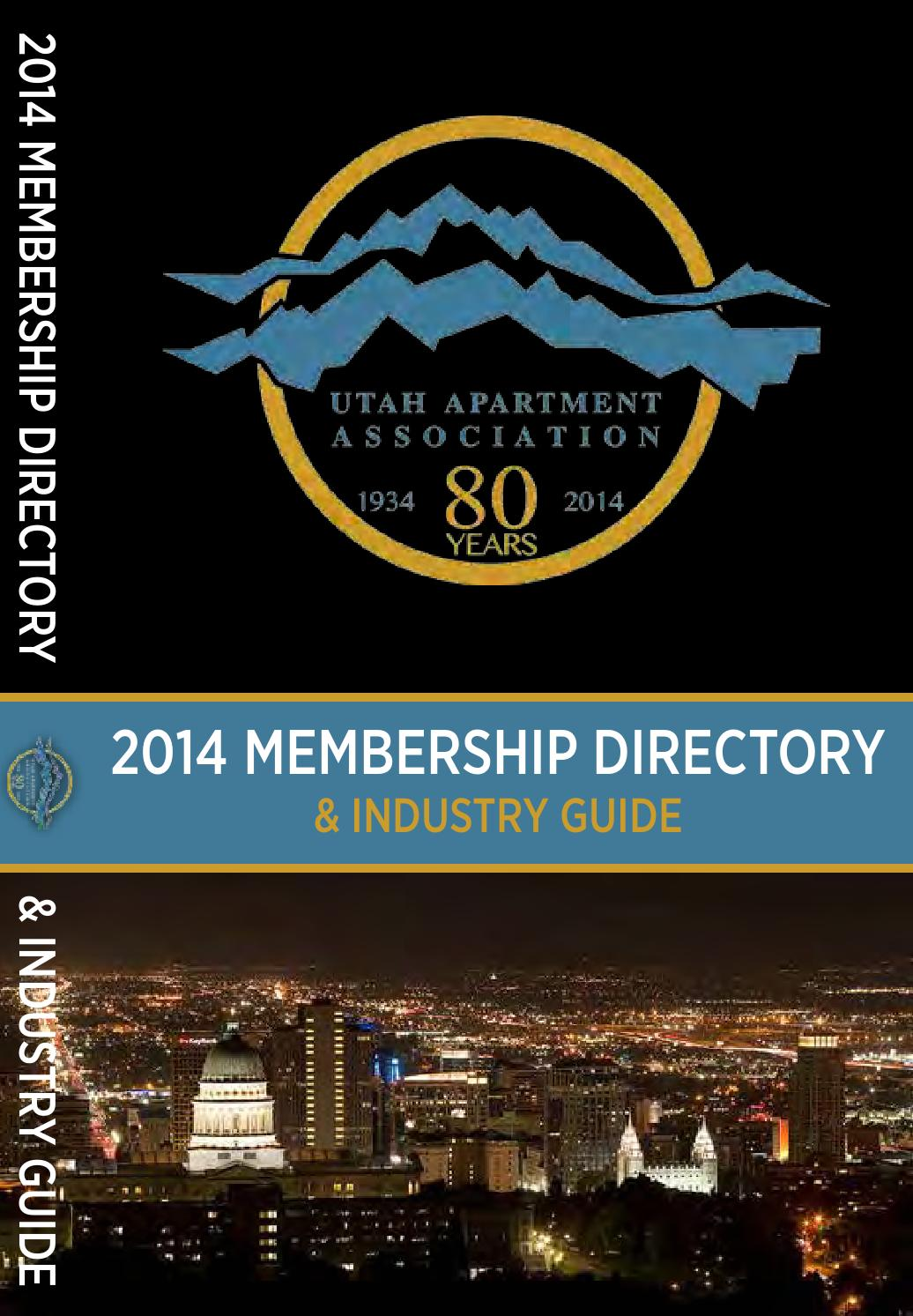 2014 Utah Apartment Association Directory Industry Guide By Charles Jourdan 1005 2312 Silver Professional Publishing Inc Issuu