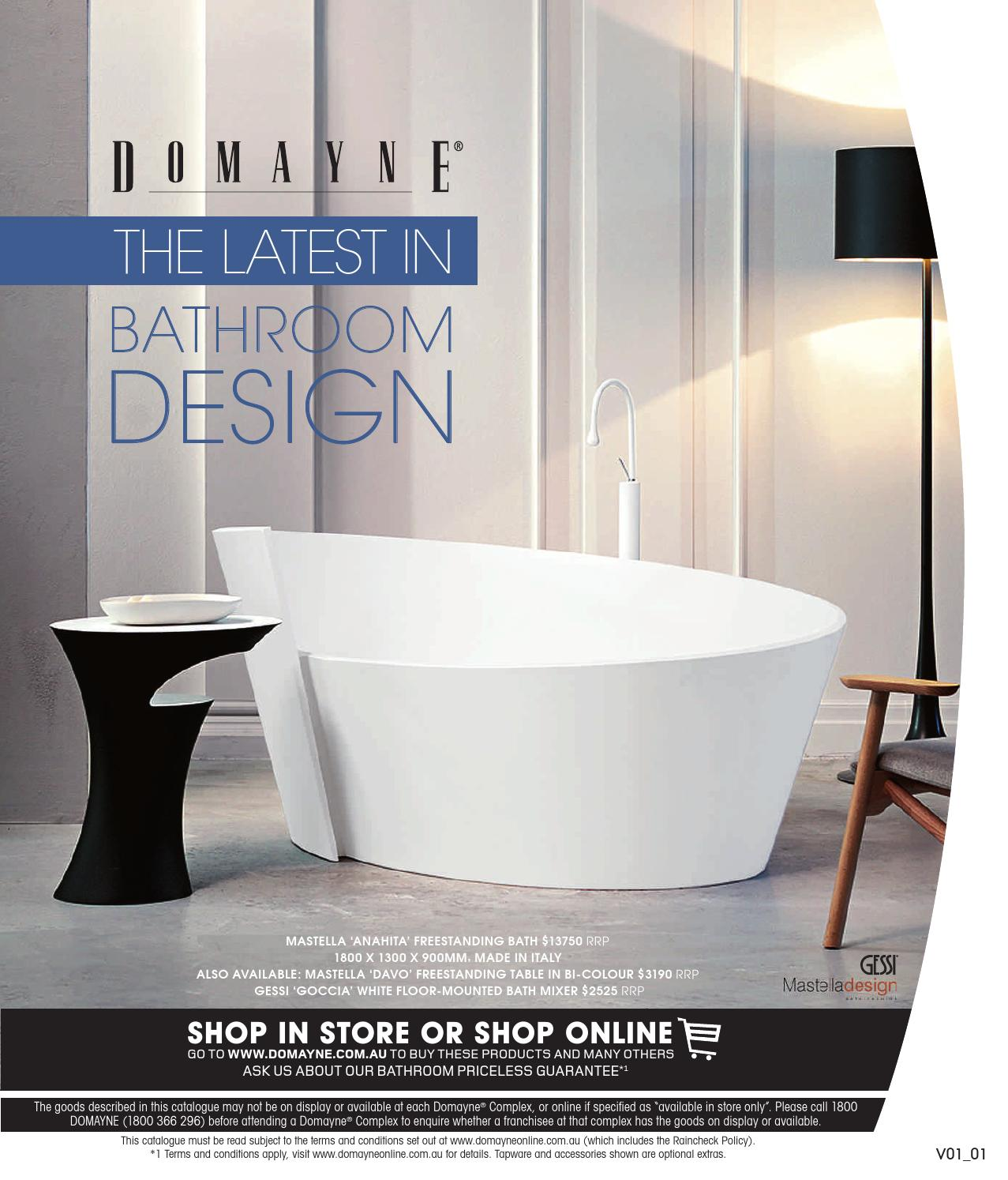 The Latest in Bathroom Design by Domayne - issuu