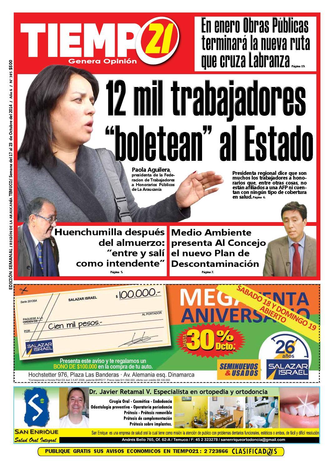 Edici N 305 12 Mil Trabajadores Boletean Al Estado By Tiempo21  # Muebles Mehuin Rancagua
