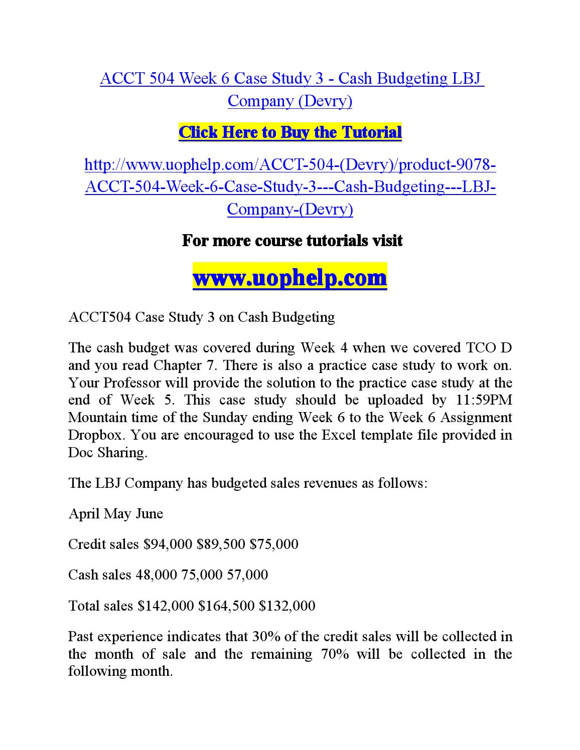 acct504 practice case study 3 cash Third-party sender case studies: odfi best practices to close the gap an ach risk management white paper this ach risk management white paper examines three case studies related to third-party sender risk these case studies address odfi challenges related to: 1) on-boarding a new third-party sender, 2) monitoring the third-party sender relationship on an ongoing basis, and 3.