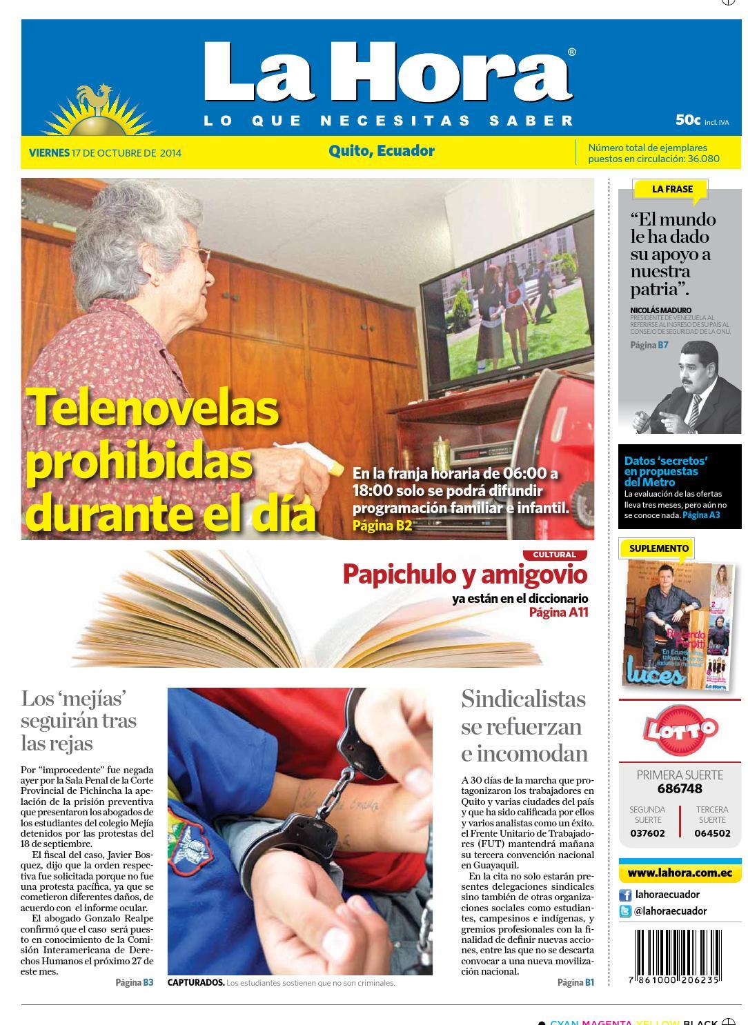2fa874a8f Quito 17 octubre 2014 by Diario La Hora Ecuador - issuu