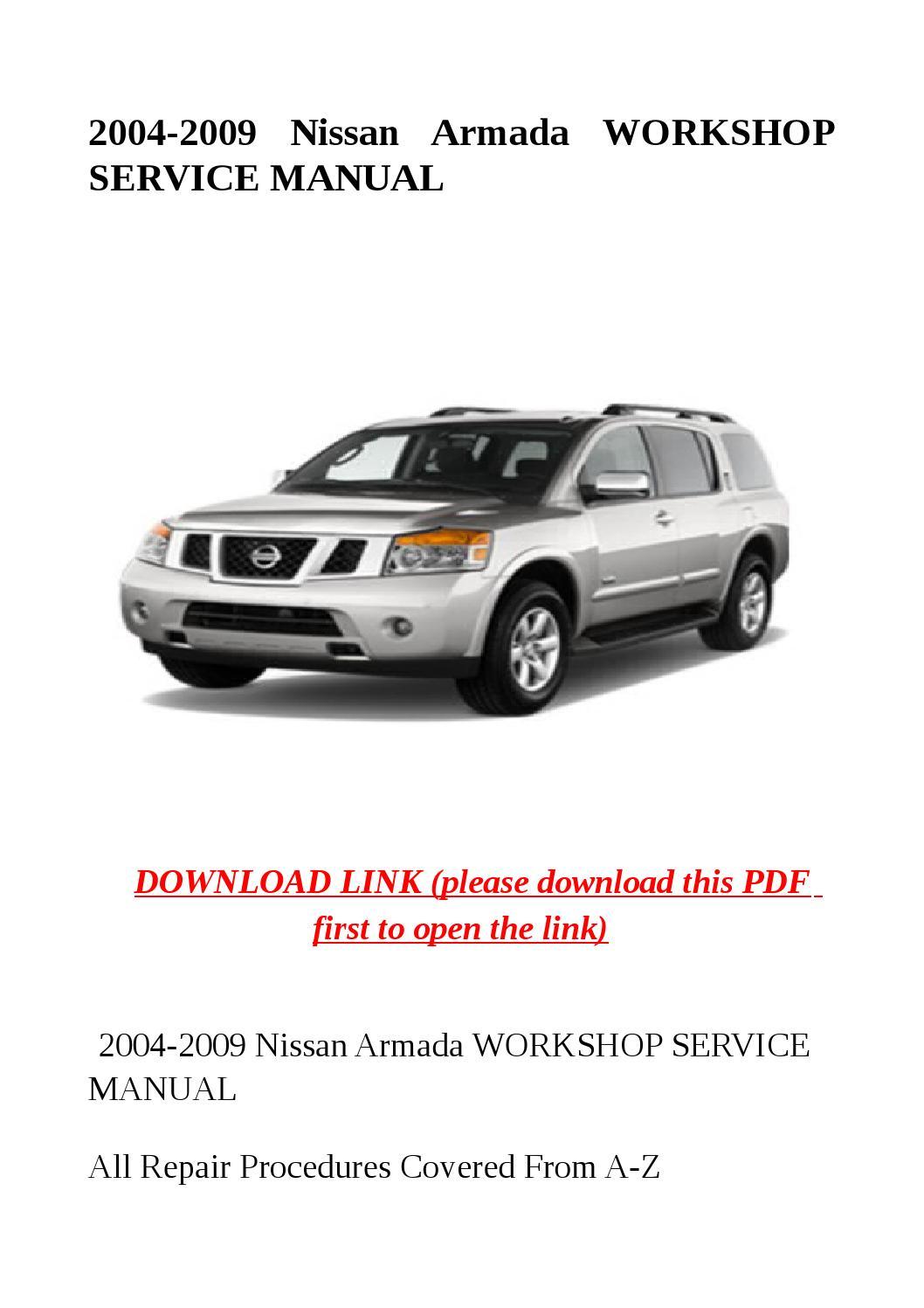 2004 2009 Nissan Armada Workshop Service Manual By Sally Mool