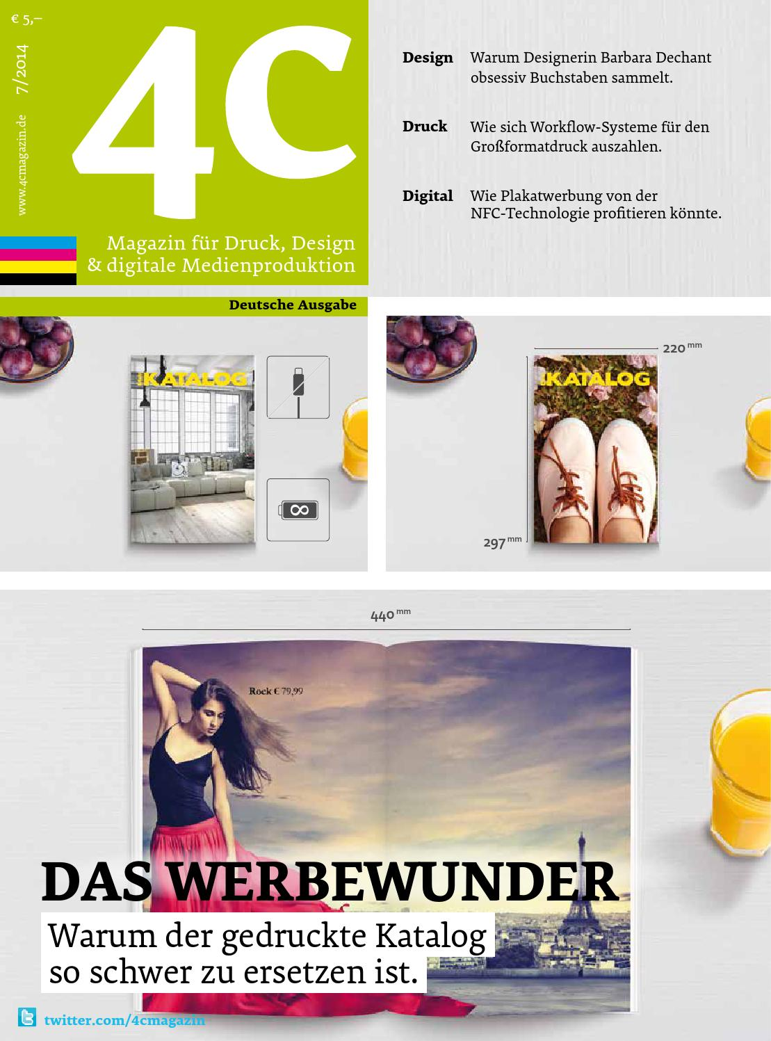 4c Magazin Für Druck Design Digitale Medien 7 2014 By