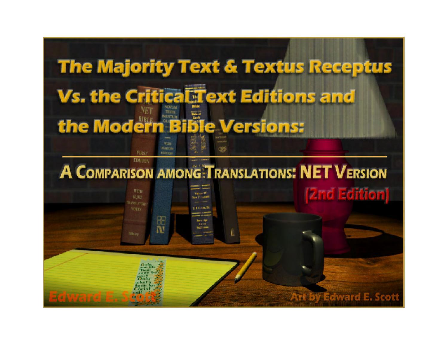 The Majority Text Textus Receptus Vs Modern Bible Versions Ner V Ori Net Version 3rd Edition By Edward Scott Issuu