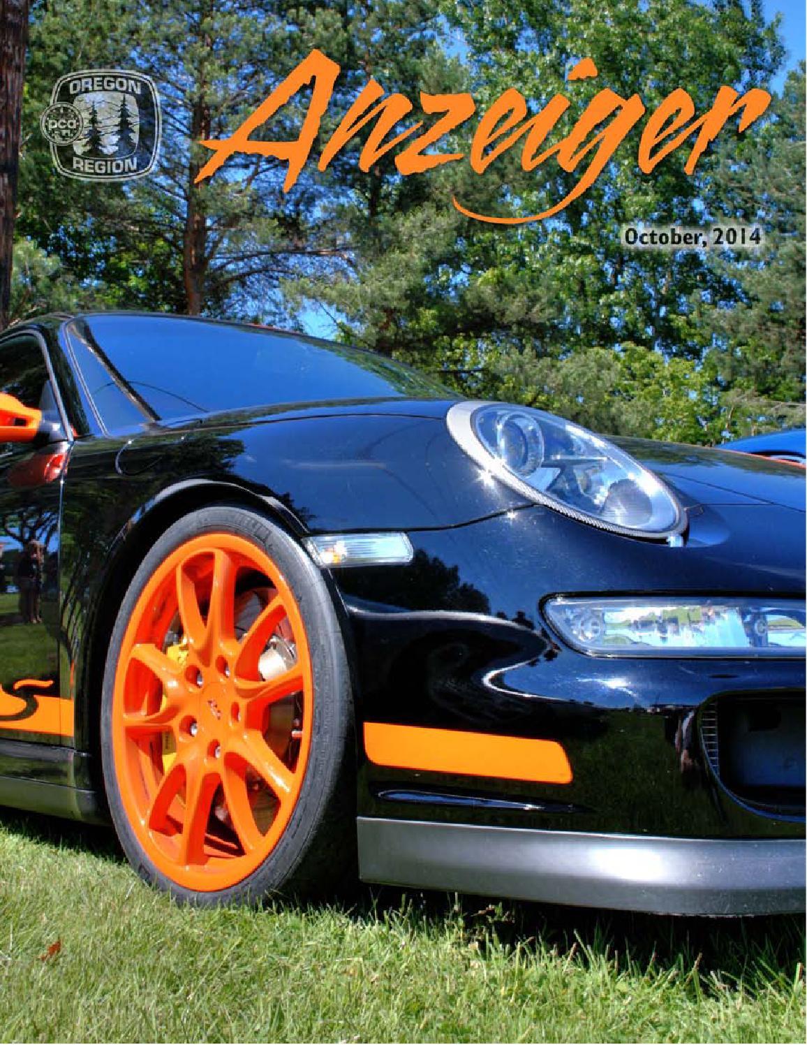 October 2014 anzeiger by oregon region porsche club of for Carrera motors bend oregon