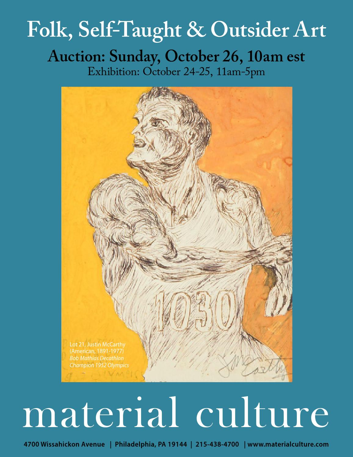 Auction October 26 2014 By Material Culture Auction Dept Issuu