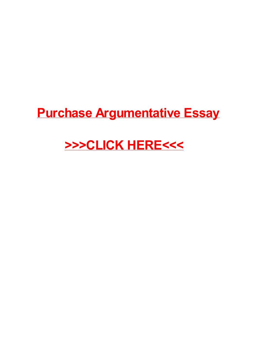 Argumentative essay purchase