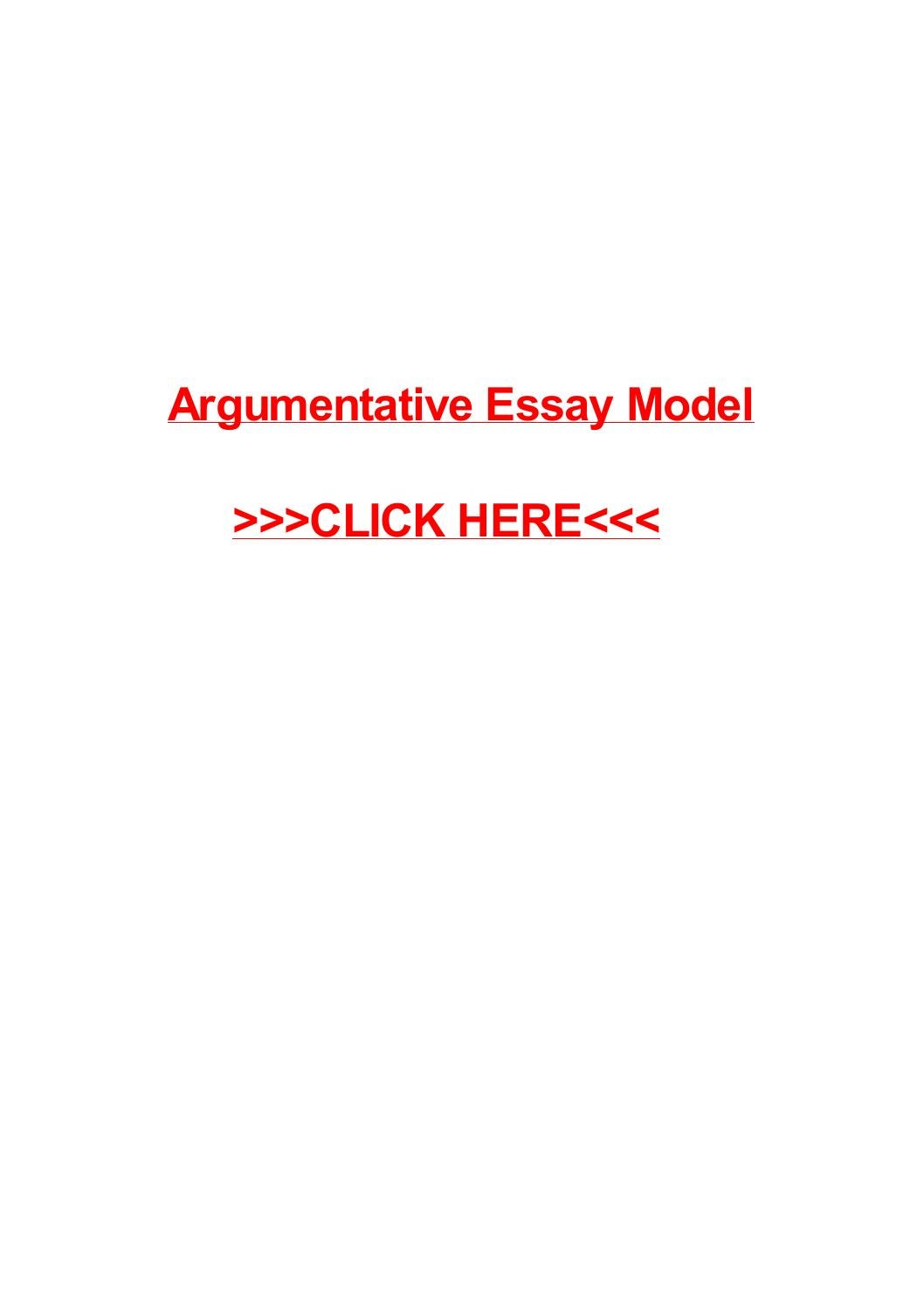 Literary Essay Thesis Examples  Argument Essay Topics For High School also Essay On My Mother In English Argumentative Essay Model By May Pilon  Issuu Essay About Healthy Diet