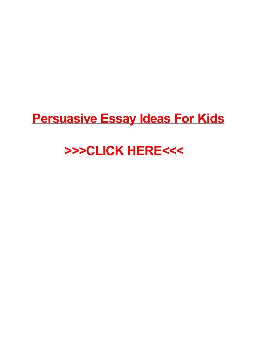 argumentative essay examples for kids