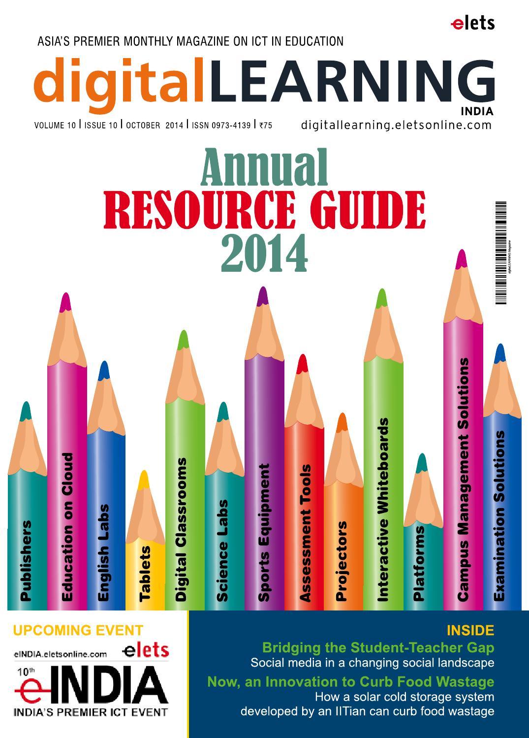 DigitalLEARNING October 2014 by digital LEARNING Magazine
