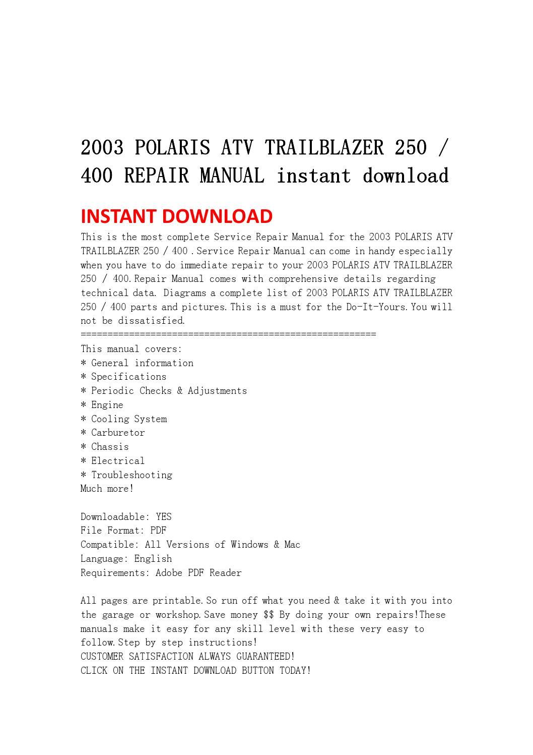 polaris trailblazer 250 service manual pdf