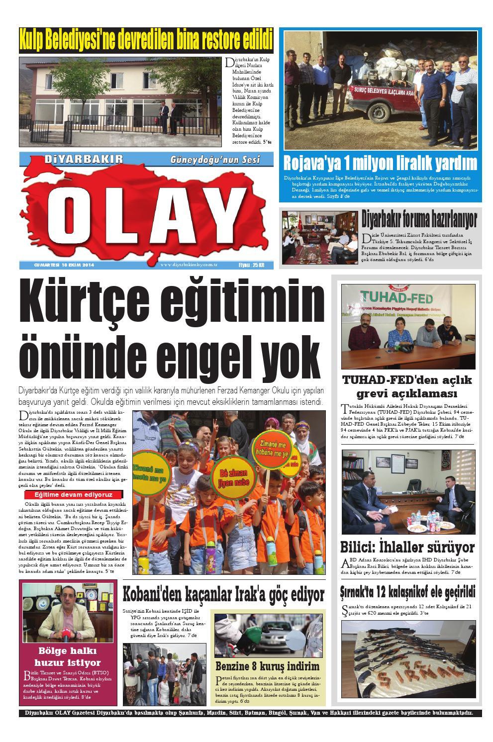 18 10 2014 Gazete Sayfalari By Diyarbakir Olaygazetesi Issuu