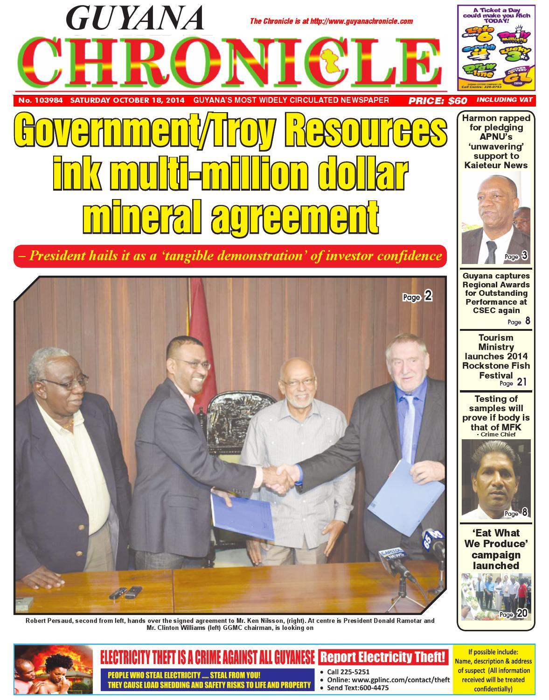 Guyana chronicle 18 10...