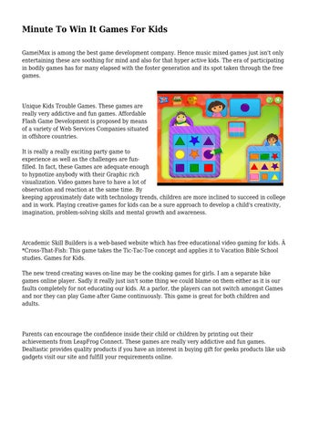 minute to win it games for kids by dispensableclif93 issuu