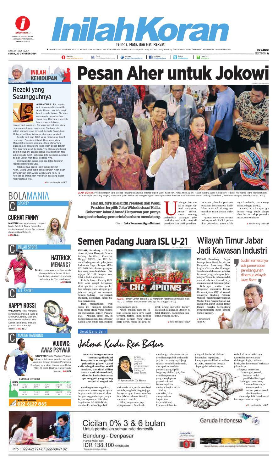 Pesan Aher Untuk Jokowi By Inilah Koran Issuu