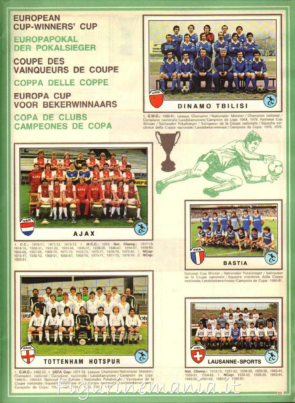 BANIK O -TEAM-NEW SPORT SUPERSTARS//EURO FOOTBALL 82-PANINI-Figurina n.132