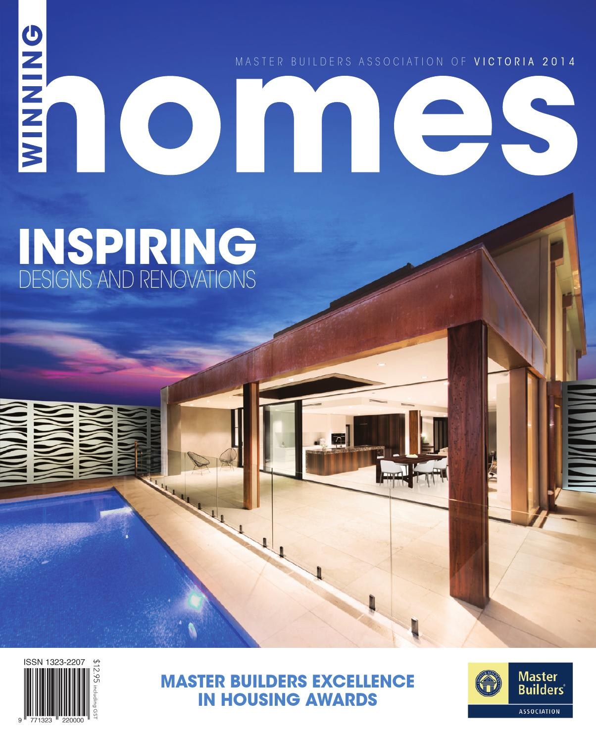 2014 master builders victoria winning homes magazine by for Home building magazines