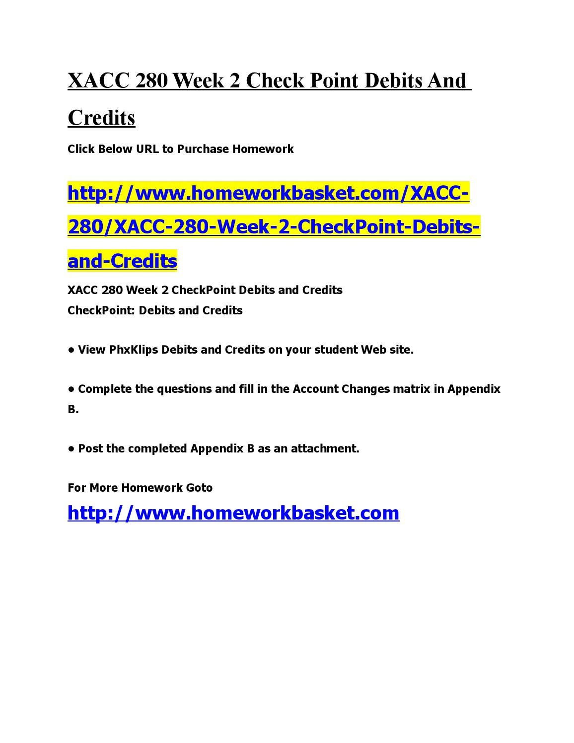 xacc 280 appendix d answer checkpoint Does anyone have a completed appendix e- for axia class xacc 280 week 4 assignment - preparing a financial statement worksheet  what are the nain formatting differences between the memo in appendix d and academic paper in appendix e  read appendix b and answer appendix c i have attachments.