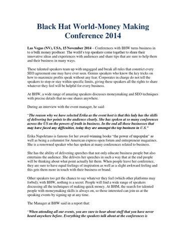 Black Hat World-Money Making Conference 2014 by Asada Elthin - issuu