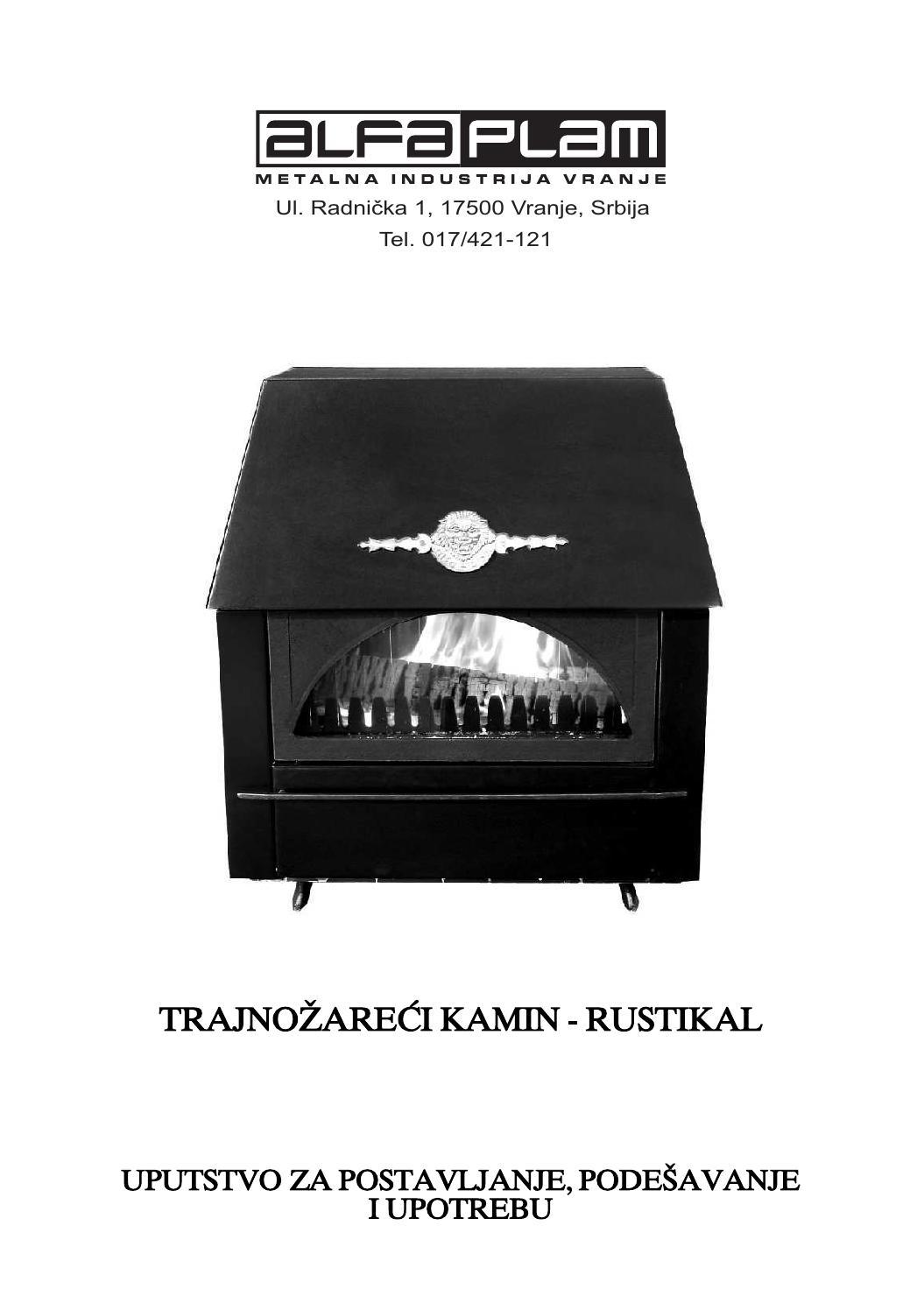 Uputstvo Za Kamin Rustikal By Madaco Issuu
