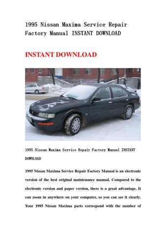 1995 nissan maxima service repair factory manual instant download by rh issuu com 2010 Nissan Maxima 2015 Nissan Maxima