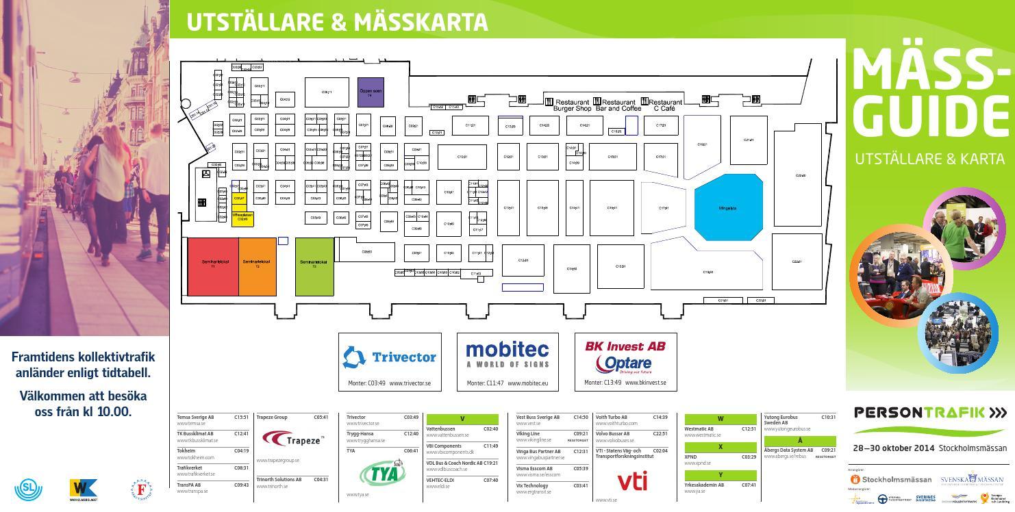 Karta Stockholmsmassan.Persontrafik 2014 Massguide By Break A Story Communication Ab Issuu