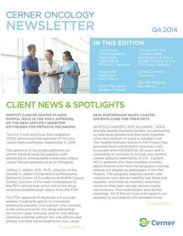 Cerner Oncology Newsletter_Q4_2014 by Cerner - issuu