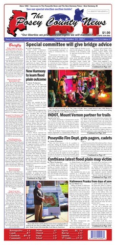 october 21 2014 the posey county news by the posey county news rh issuu com