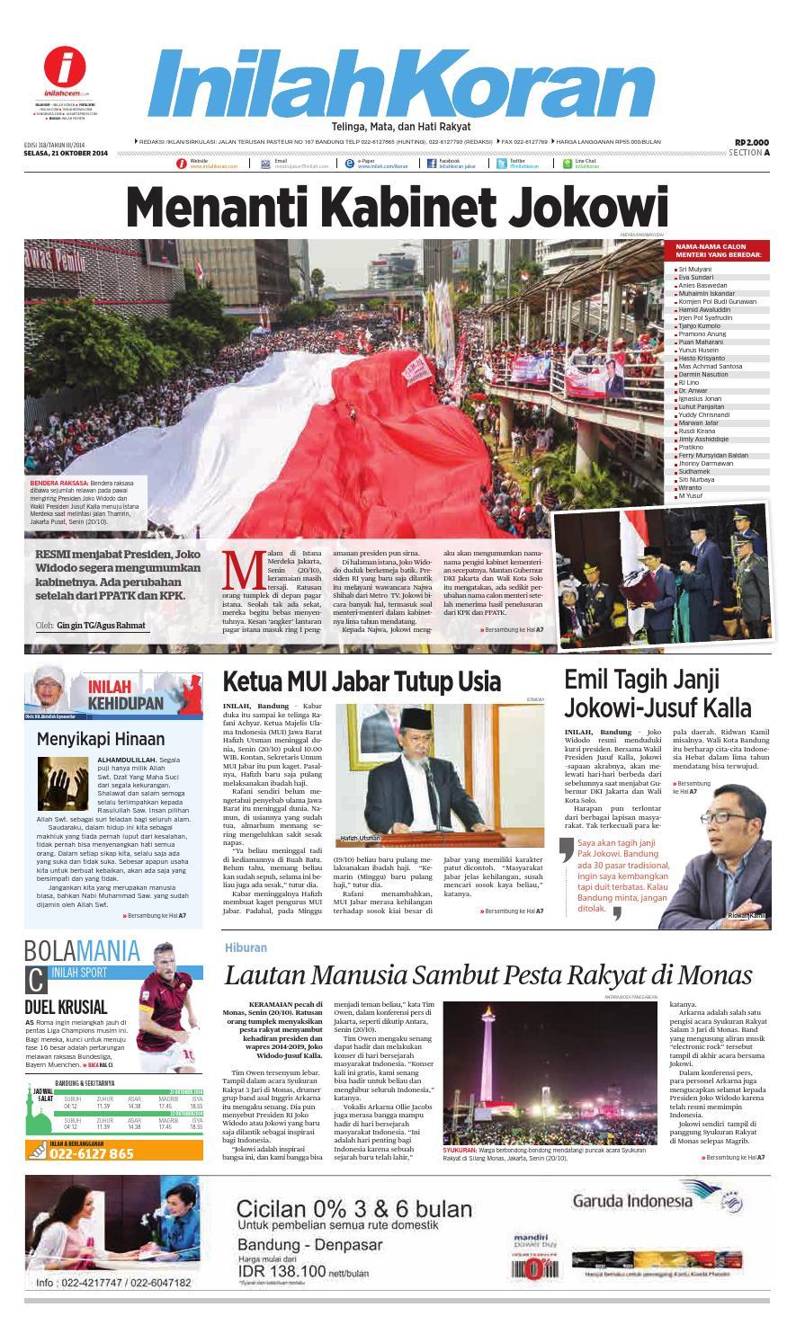 Menanti Kabinet Jokowi By Inilah Koran Issuu