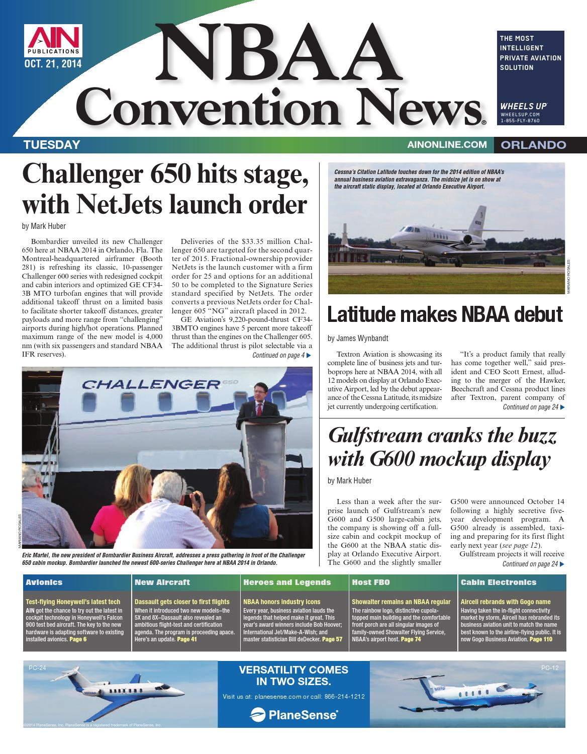 Nbaa Convention News 10 21 14 By Aviation International Issuu Martel Wiring Diagram