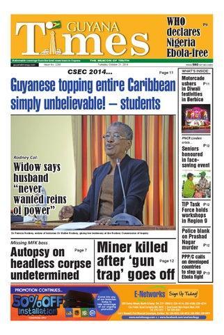 Guyana Times October 21, 2014