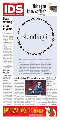 Tuesday, Oct  21, 2014 by Indiana Daily Student - idsnews - issuu