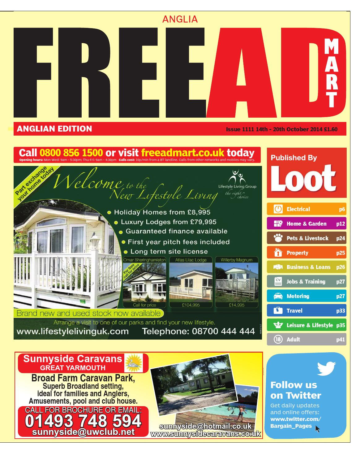 Free Ad Mart Anglian, 14th October 2014 by Loot issuu