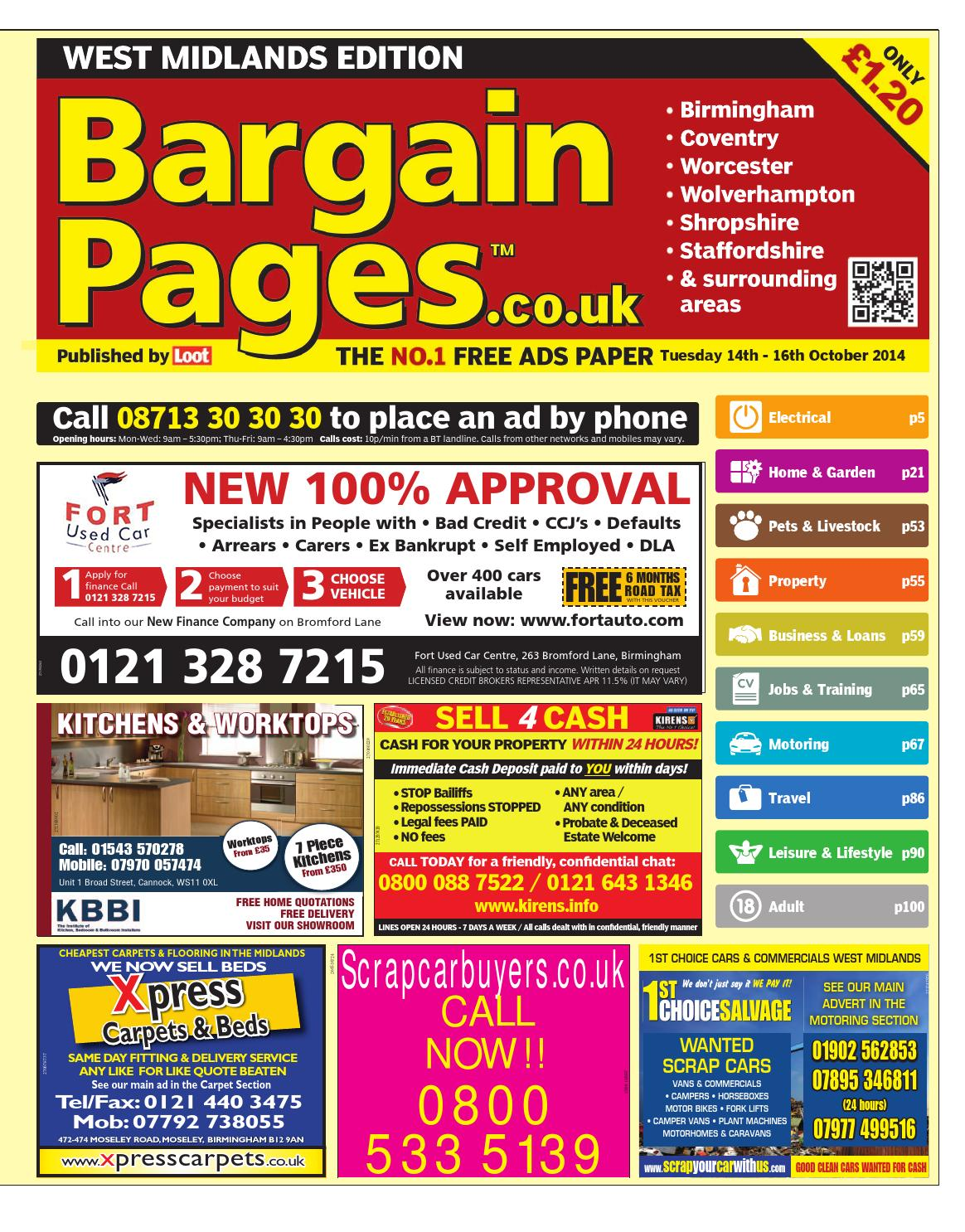 Bargain Pages Midlands 14th October 2014 By Loot Issuu Thermostat Wire 18 8 X 50ft Gauge Conductor Ebay