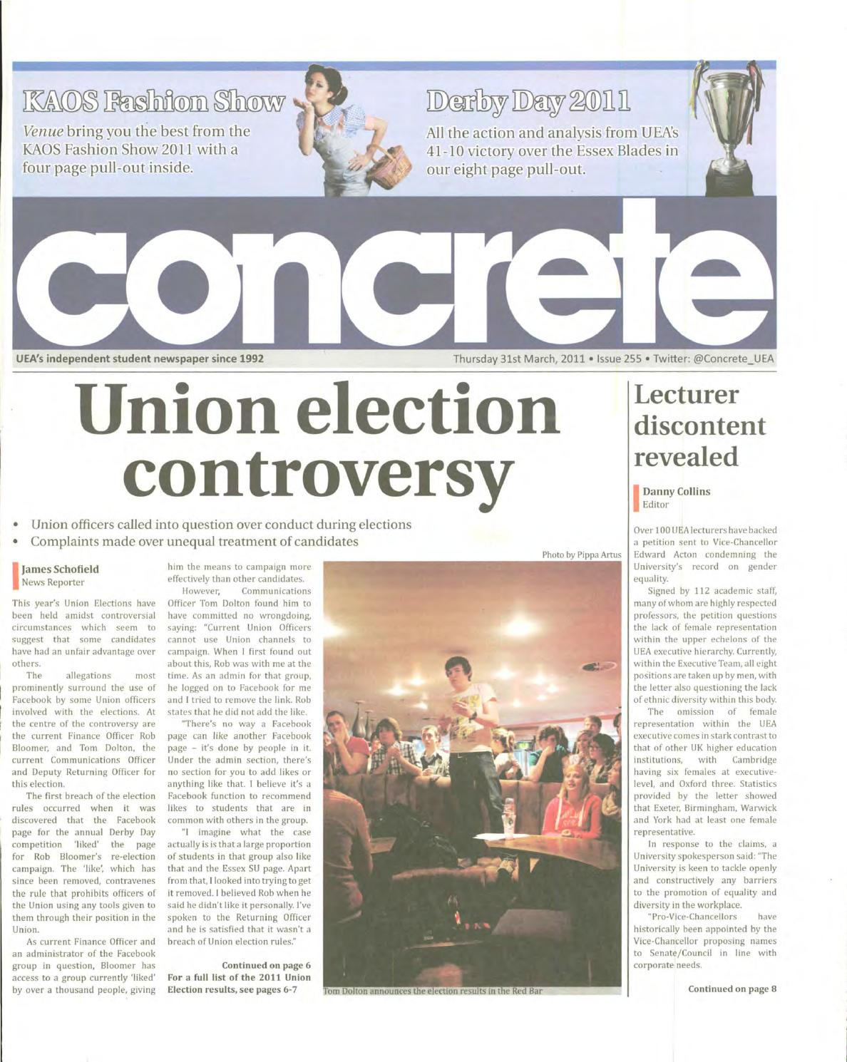 Concrete Issue 255 31 03 2011 By Ueas Official Student Kaos Catching Fire Newspaper Issuu