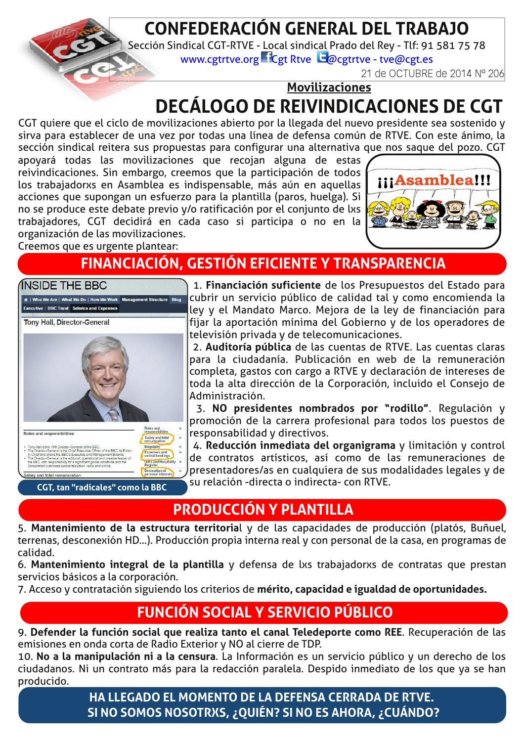Hoja 206 21 10 14 by CGT RTVE - issuu