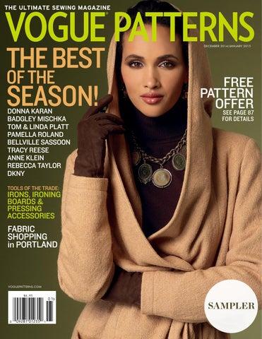 Vogue Patterns Magazine December 2014 January 2015 Sampler 45e5125de94