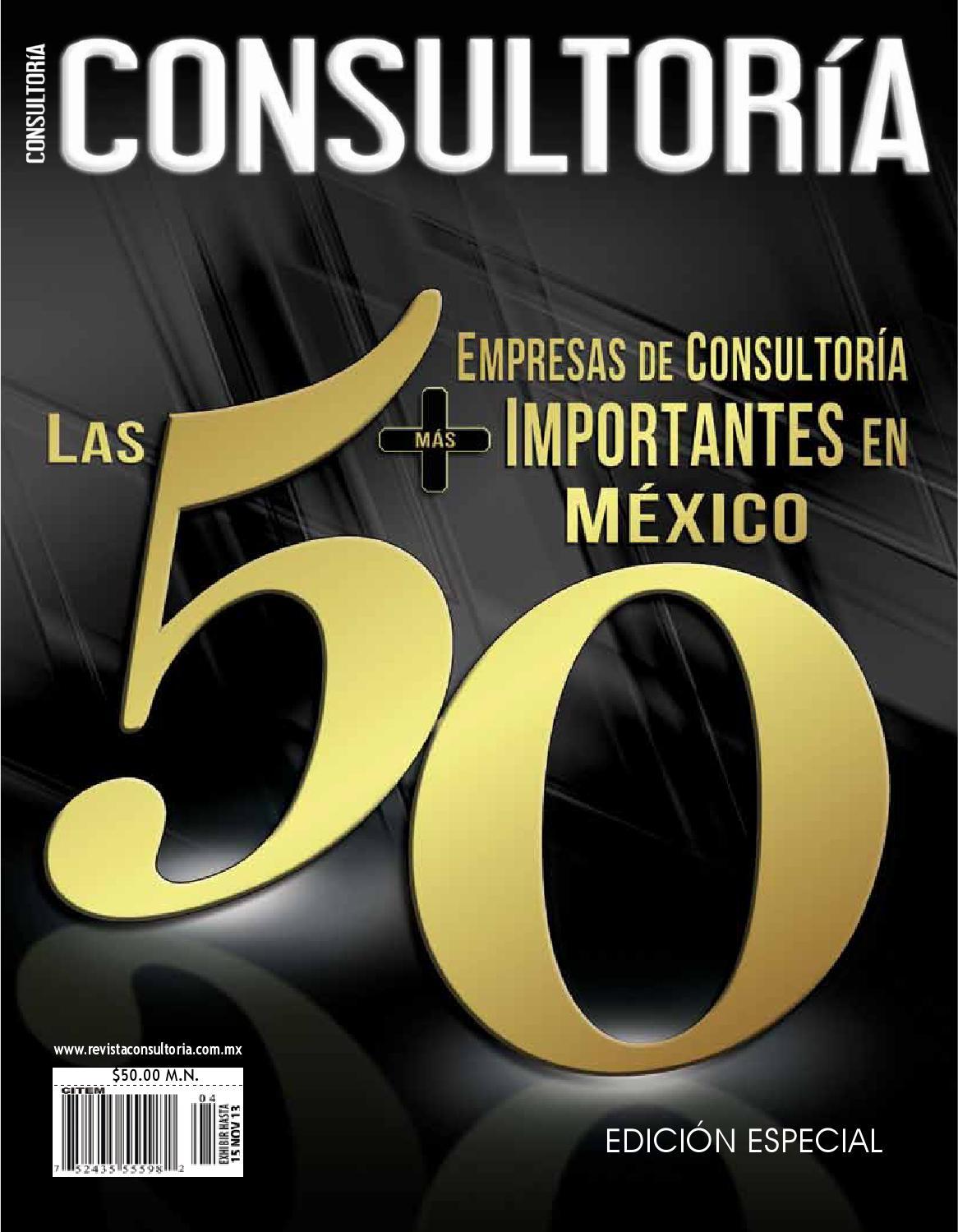 Las 50 Empresas De Consultoría Más Importantes En México By