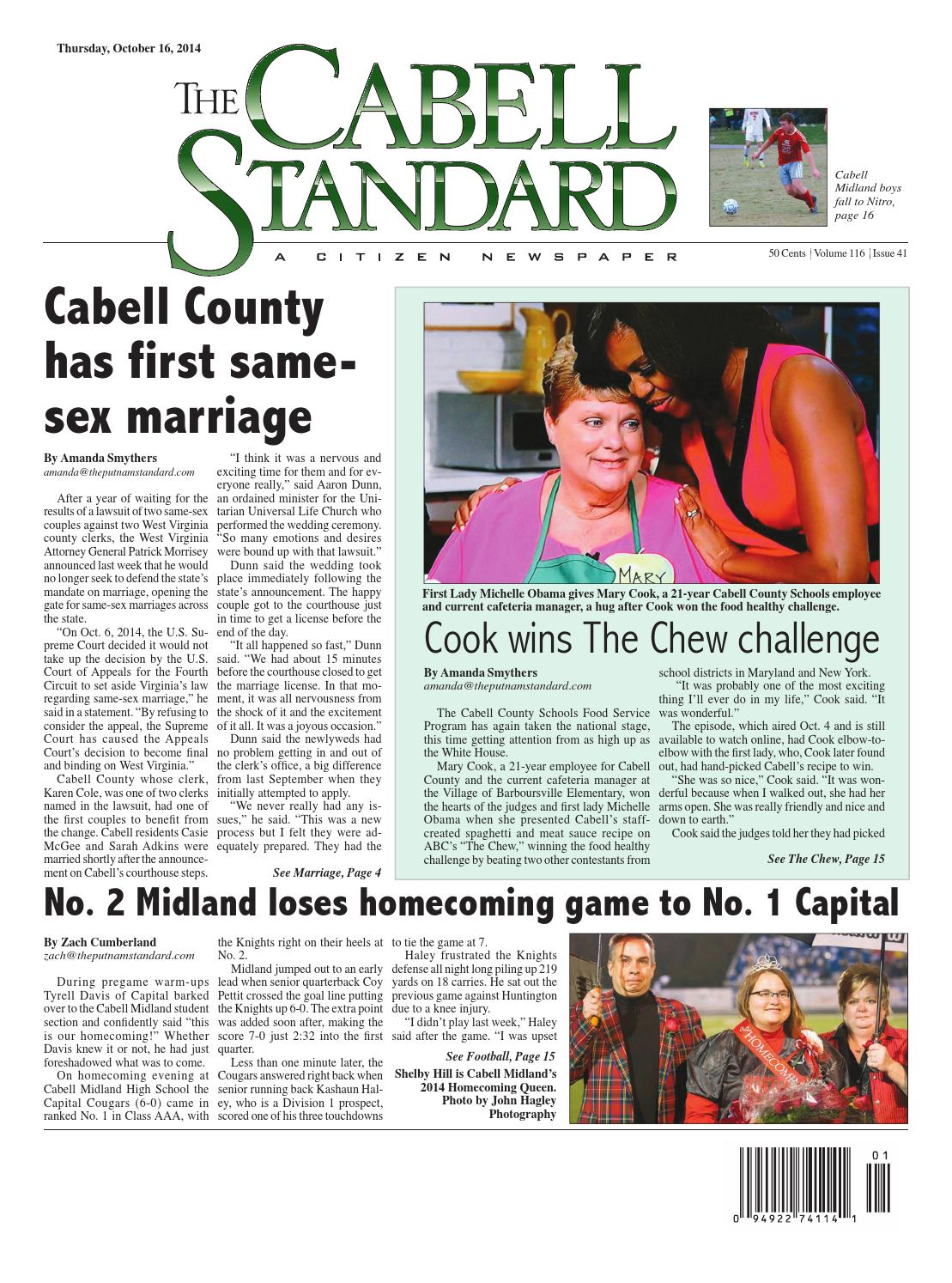 The Cabell Standard Oct  16, 2014 by PC Newspapers - issuu