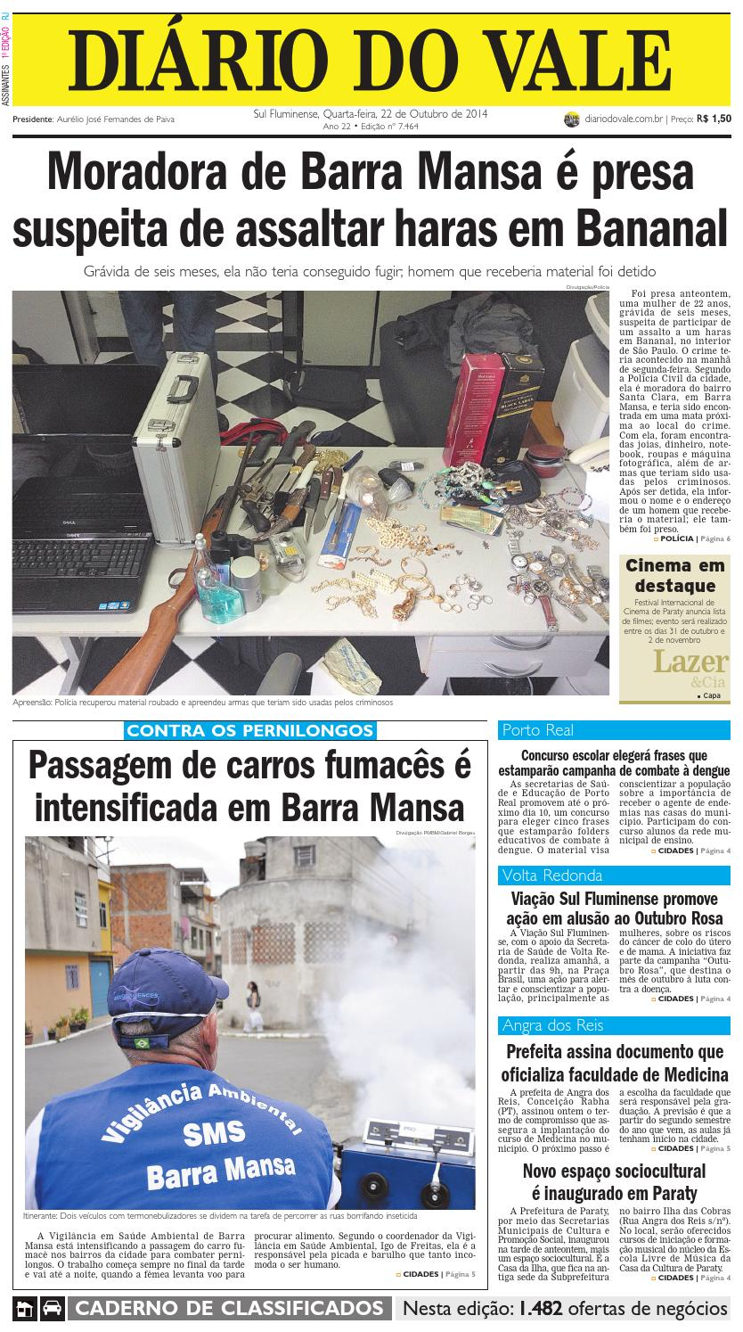 e5b766819620d 7464 diario quarta feira 22 10 2014 by Diário do Vale - issuu