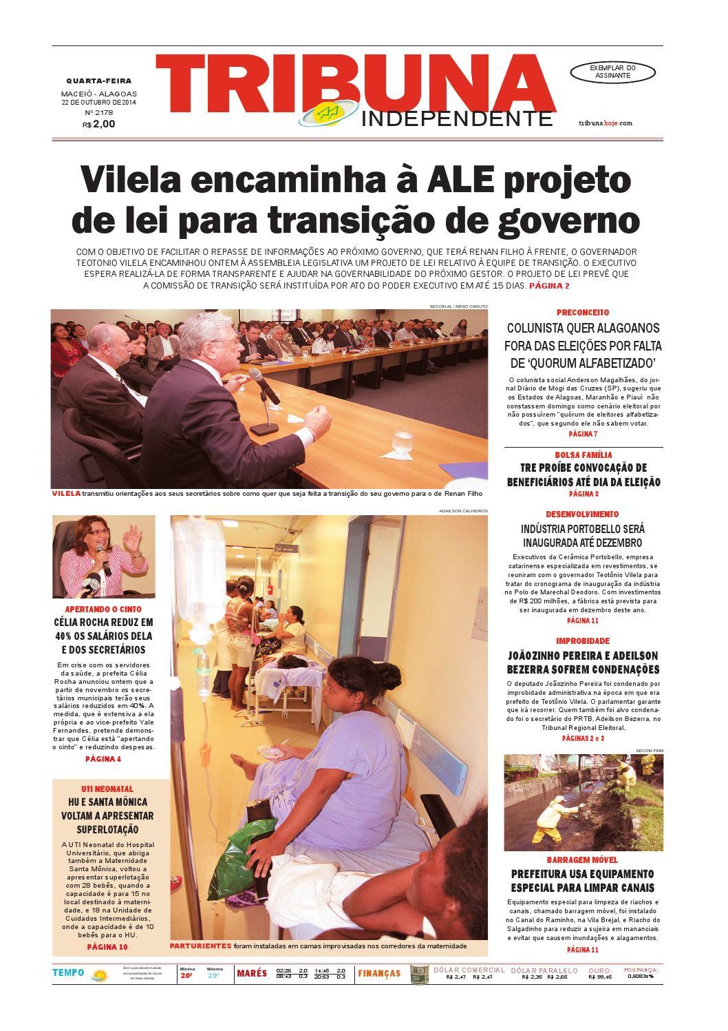 ec96bd2ced7 Edição número 2178 - 22 de outubro de 2014 by Tribuna Hoje - issuu