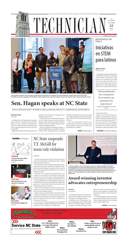 Technician - Oct. 21, 2014 by NCSU Student Media - issuu