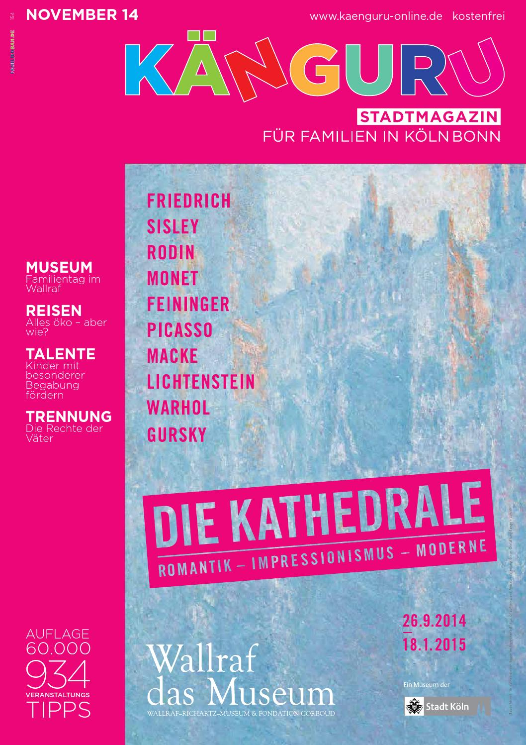 Känguru Stadtmagazin Für Familien In Kölnbonn November 2014
