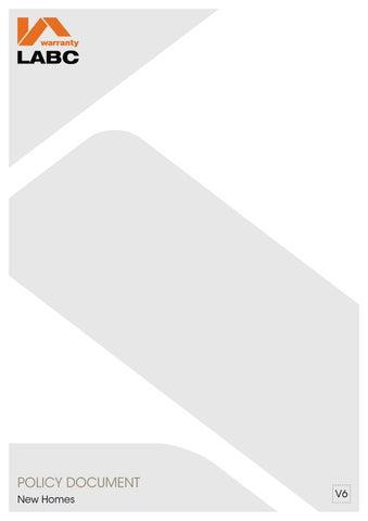 Superior LABC Warranty New Homes V6 Policy