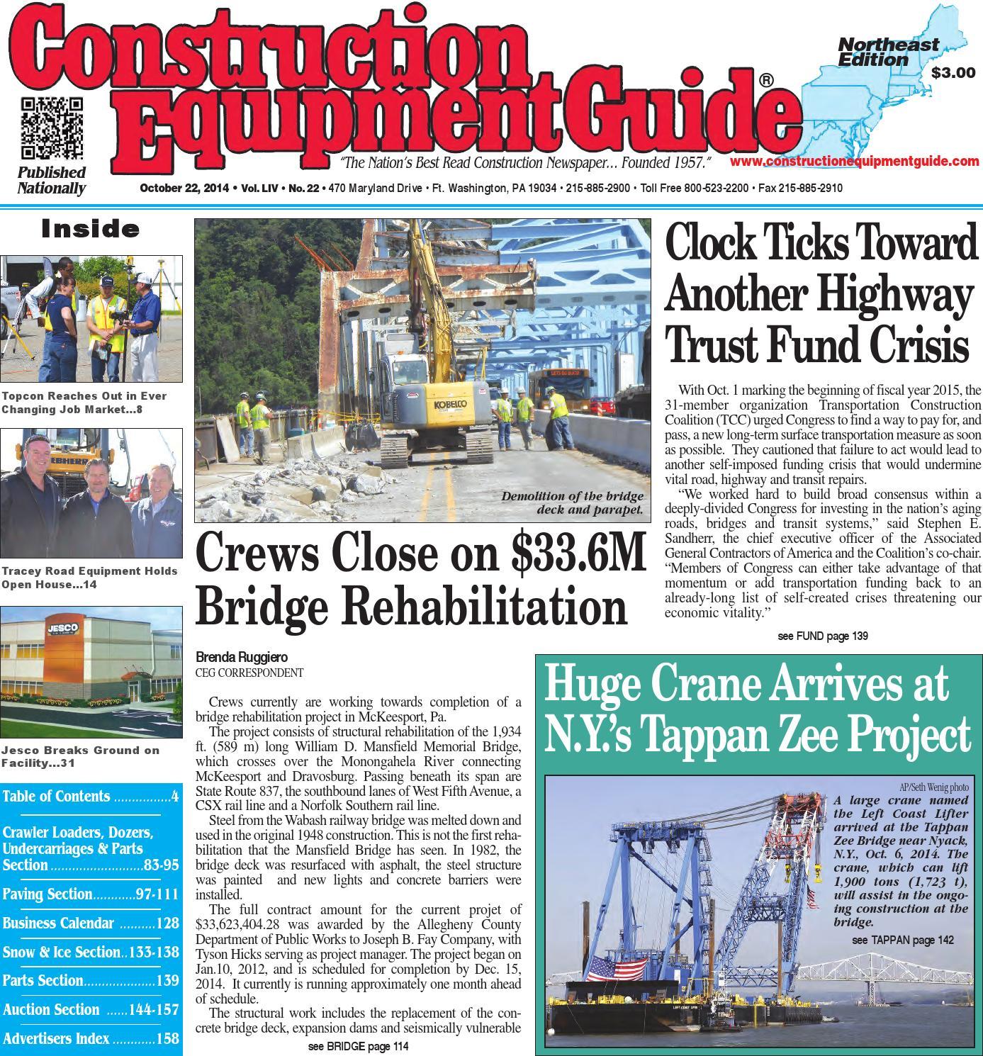 Northeast 22 2014 By Construction Equipment Guide Issuu Door Closure Wiring Diagram 279c Cat