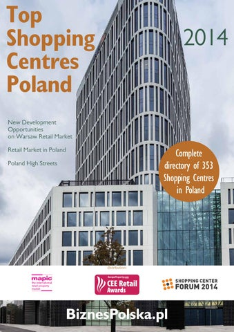Top Shopping Centres Poland 2014 By Biznespolskacee Business