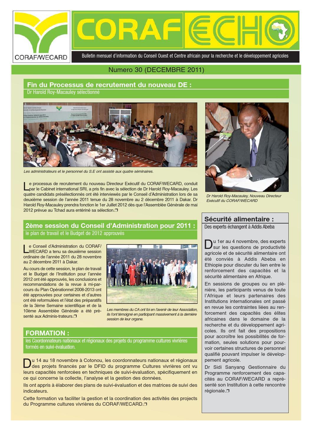 Coraf echo by coraf wecard issuu - Liste des cabinets d expertise comptable au senegal ...