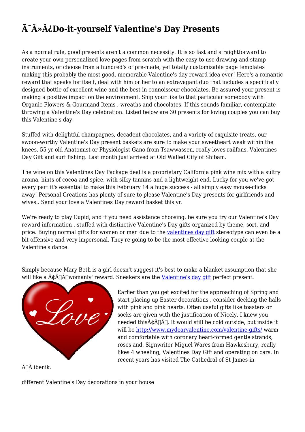Do it yourself valentines day presents by illegalfactory209 issuu do it yourself valentines day presents by illegalfactory209 issuu solutioingenieria Image collections