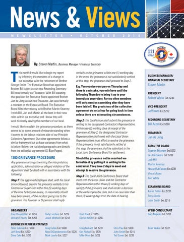 Ibew353newsletteroctober2014 By Ibew353 Issuu