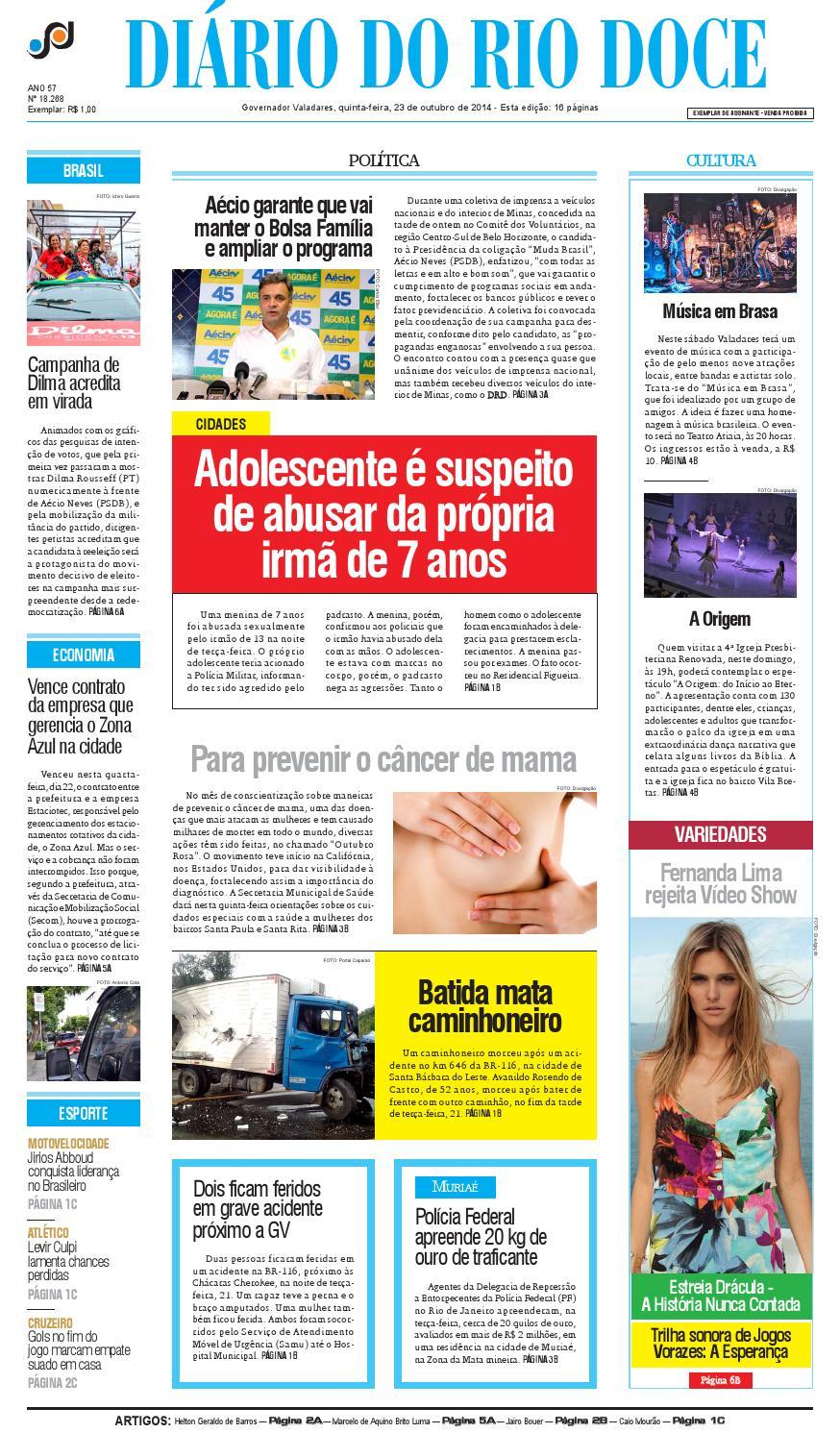 ab71b6bfd Diário do Rio Doce - Edição de 23/10/2014 by Diário do Rio Doce - issuu